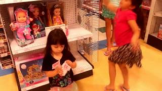 2 years of their own saved change shopping spree shopkins at Toys r Us