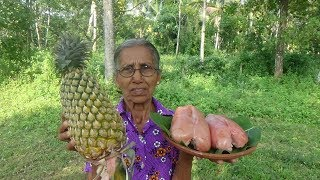 Village Foods ❤ Cooking Pineapple with Chicken in my Village by Grandma