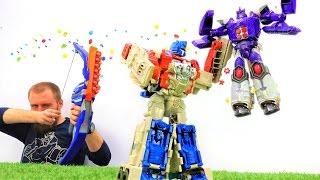 Трансформеры: Оптимус Прайм и Бамблби в битве за технику!