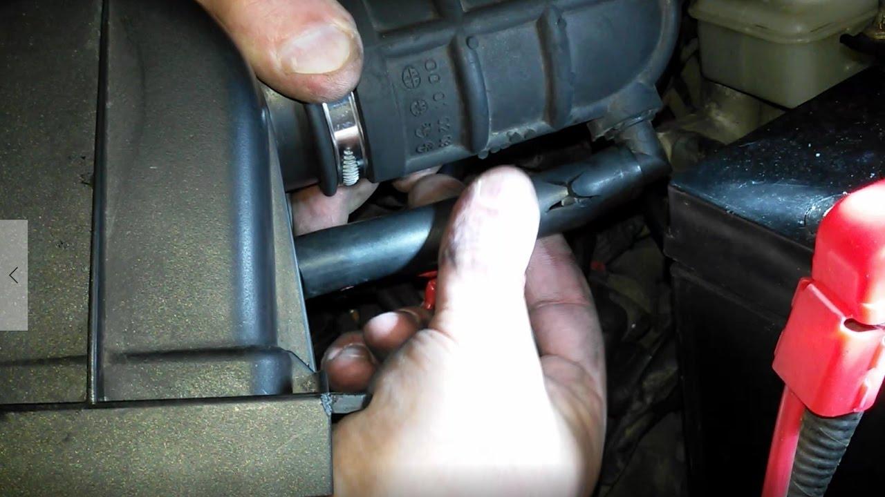 Замена патрубка системы пуска на Daewoo Matiz 0.8L-1.0L МКПП и АКПП