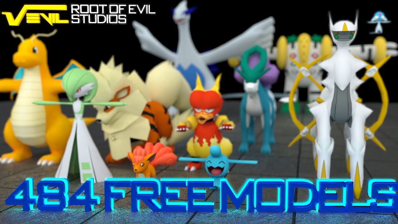 484 FREE POKEMON MODELS! - YouTube