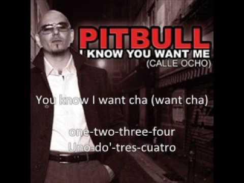 Pitbull  i know you want me LYRICS
