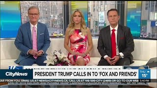 Donald Trump calls in to 'Fox and Friends'