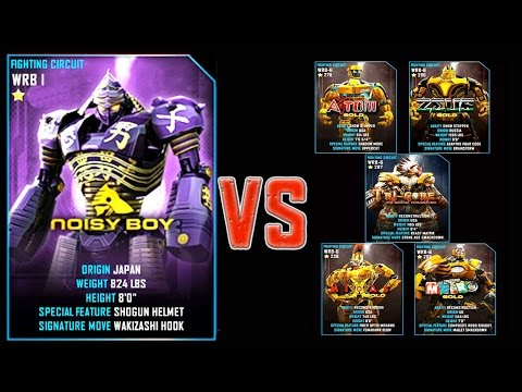Real Steel WRB FINAL Noisy Boy VS ALL GOLD ROBOTS Series of fights NEW ROBOT (Живая Сталь)