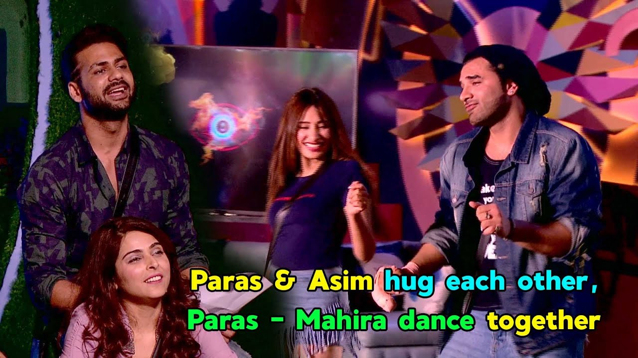 Bigg Boss 13: Paras Chhabra & Asim Riaz hug each other, Paras Mahira dance together