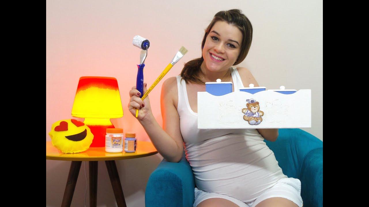 KIT HIGIENE DO BEB u00ca FA u00c7A VOC u00ca MESMO M u00d4NICA MEDEIROS YouTube -> Como Pintar E Decorar Kit Higiene Para Bebe Em Mdf