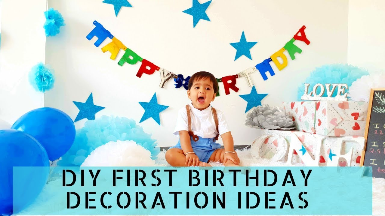 Easy Diy First Birthday Photoshoot Party Decorations At Home New Ideas 2019 Youtube