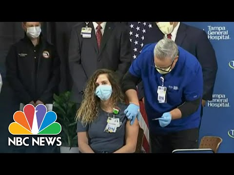 Tampa Nurse Is First To Receive Post-Trial Covid-19 Vaccine In Florida | NBC News NOW