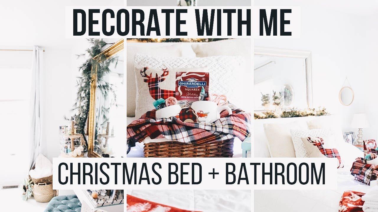 DIY Christmas Bedroom + Bathroom Decor | EASY + AFFORDABLE Decorating Ideas