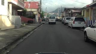 Driving to Roseau Dominica 2013