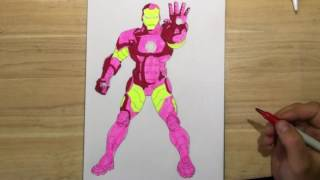 КАК НАРИСОВАТЬ ЖЕЛЕЗНОГО ЧЕЛОВЕКА. How to draw iron man(КАК НАРИСОВАТЬ ЖЕЛЕЗНОГО ЧЕЛОВЕКА. How to draw iron man Поэтапно рисуем железного человека. Сначала, делаем наброск..., 2016-05-19T06:00:01.000Z)