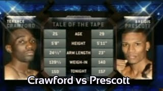 FULL Fight Terence Crawford vs Breidis Prescott The Common opponent of Amir Khan & Bud Crawford