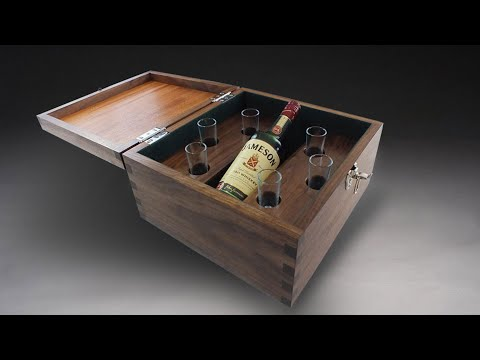 Building A Bachelors Party Whiskey Gift Box - Woodworking