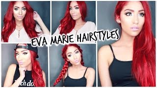 Quick and Easy Eva Marie Hairstyles | WWE Diva