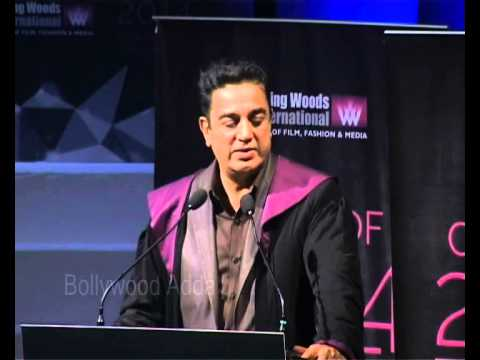Kamal Hassan, Javed Siddiqui At Whistling Woods International's 7th Annual Convocation