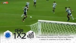 e-Live Sports Ao Vivo I Cruzeiro 3 X 0 Santos I Copa do Brasil 15/08/2018