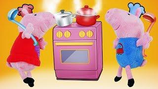 Свинка Пеппа — мультик для детей на русском. ПОКА СВИНКИ БЕЗ РОДИТЕЛЕЙ, Пеппа и Джордж готовят обед
