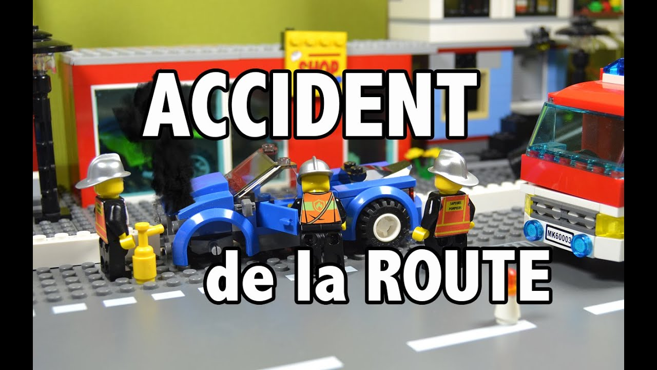 lego accident de la route youtube. Black Bedroom Furniture Sets. Home Design Ideas