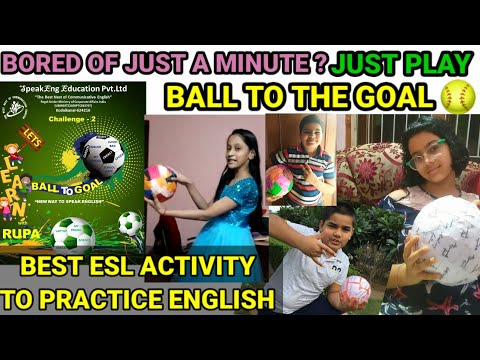 Just a minute alternative activity. BALL TO THE GOAL. Best ESL activity to speak English.