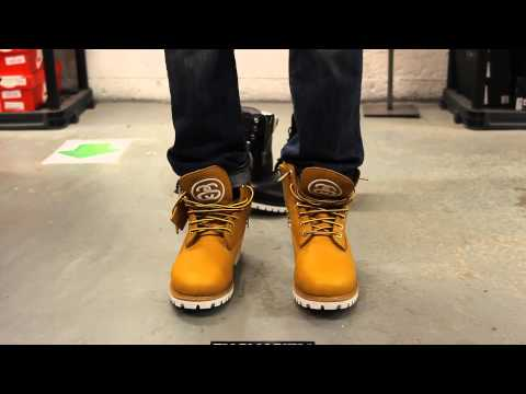 Timberland X Stüssy 6 inch Boots - Wheat - On-feet Video at Exclucity