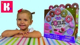 Донат мэйкер набор для приготовления сладких пончиков Donut maker unboxing set(Распаковка коробочки для приготовления сладких пышных бубликов с глазурью Донатс мейкер Unboxing set Donut Maker..., 2015-09-10T17:33:08.000Z)