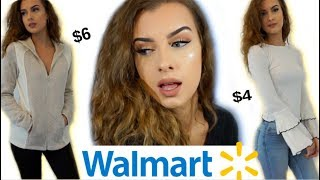 WHAT I GOT FOR $100 AT WALMART.. HUGE TRY ON CLOTHING HAUL!