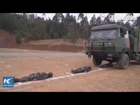 Chinese female SWAT team's daily training routine