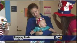Channel 2 News- 4th of July Happy Hats for Kids in Hospitals feature