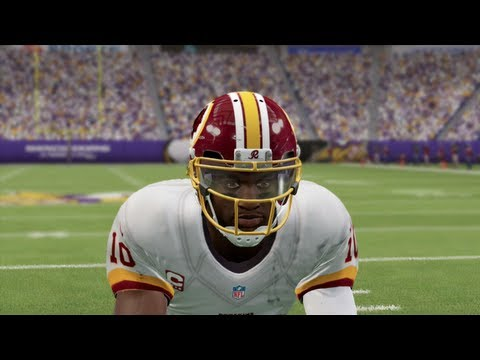 Madden 25 Online Gameplay EPIC GAME OF THE YEAR Robert Griffin III vs Adrian Peterson - cookieboy17 - 동영상