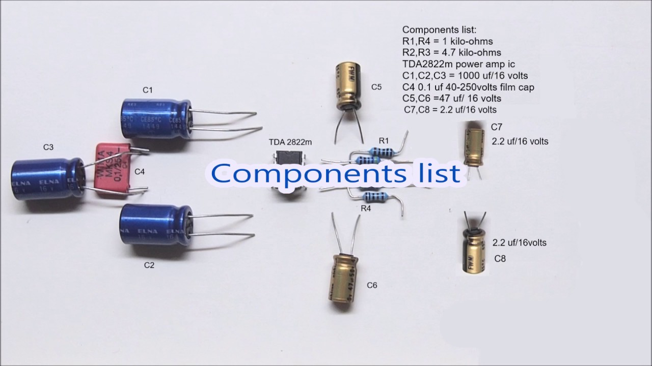 Tda2822 Circuit Diagram 1 Watt Stereo Amplifier Youtube Samsung Galaxy S