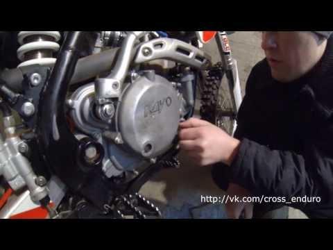 Ремонт боковой крышки сцепления двигателя Kayo T6