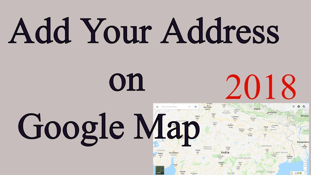 how to create address on google map