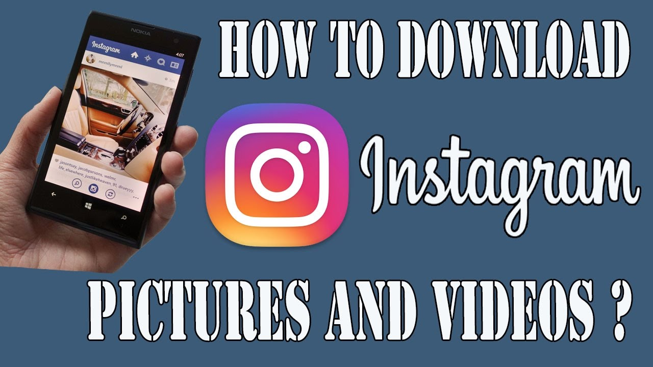 you tube how to download app to use instagram