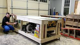 Ultimate Rolling Storage Workbench with Built-In Table Saw and Router