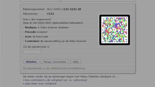 Betalen iDEAL met de Rabo Scanner