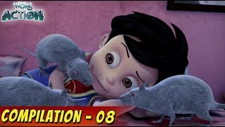 VIR: The Robot Boy Cartoon in Hindi | Compilation 08 | Hindi Cartoons for Kids | Wow Kidz Action