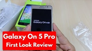 Samsung Galaxy On5 Pro Unboxing First Look Hands On Review