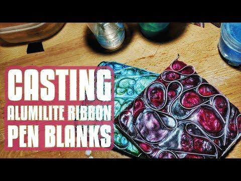 Resin Casting | Alumilute Ribbon Pen Blank Casting