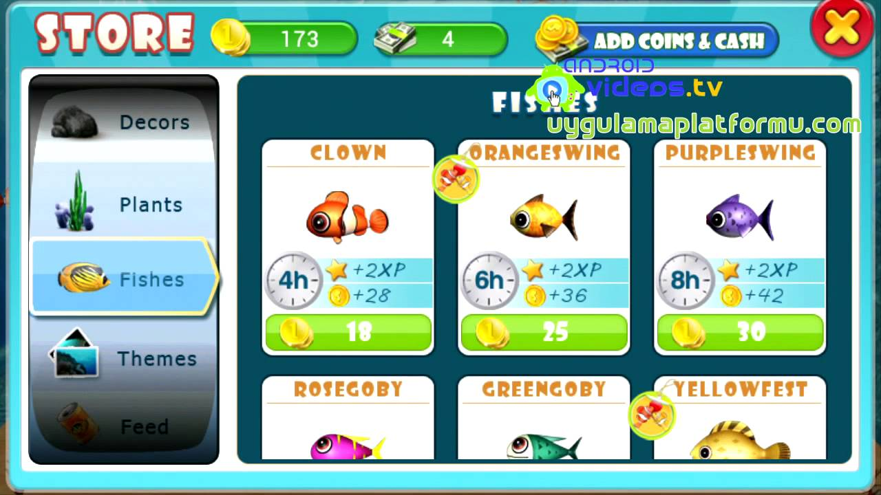 Android fish live trailer youtube for Feed and grow fish online