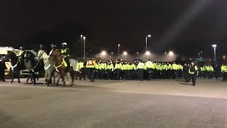 Riot Police Keep Brighton & Crystal Palace Fans Apart At FA Cup Game
