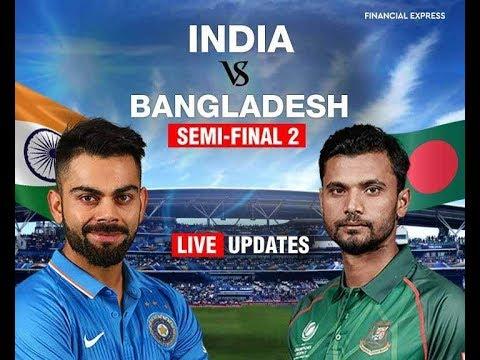 India Vs Bangladesh 2nd Inning Live Streaming, 2nd Semi Final, Champions Trophy 2017