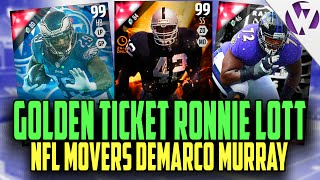 MADDEN 16 GOLDEN TICKET RONNIE LOTT!!! + NFL MOVERS DEMARCO MURRAY!! - MADDEN 16 PACK OPENING