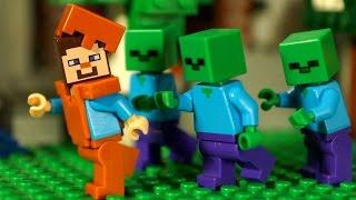 НУБ против Крипера Мультфильм Лего Майнкрафт Лаки Блоки Троллинг Мультики Lego Minecraft Animation