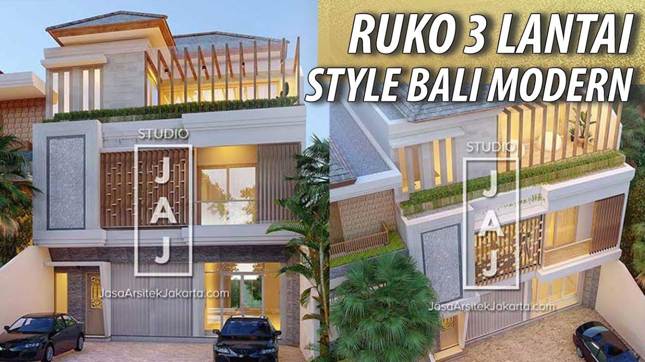Visualisasi Desain Ruko Mewah 3 Lantai Diatas Lahan 250m2 By Studio Jaj Youtube