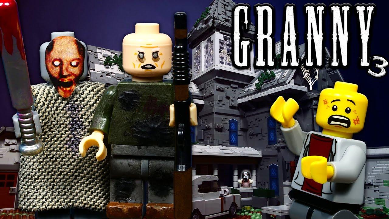 LEGO Мультфильм Granny 3 / Horror game Гренни / ЛЕГО Stop Motion, Animation [4K]