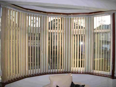 Wooden Vertical Blinds For Bay Windows Youtube