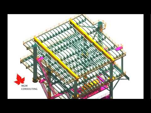 Offshore Production Platfom 4P2W - 3D Structural Framing (main module)