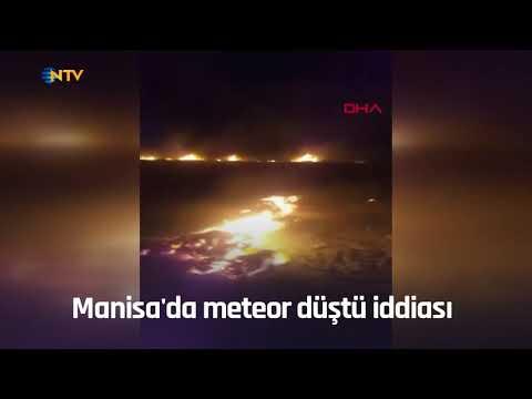 Manisa'da meteor düştü iddiası
