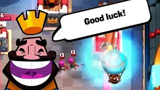 NOBODY CAN STOP THIS PUSH LOL | Clash Royale | Battle Ram Balloon NEW Deck!