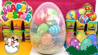 Huevo sorpresa gigante de huevos de Pascua en Español - con Eva y Lina
